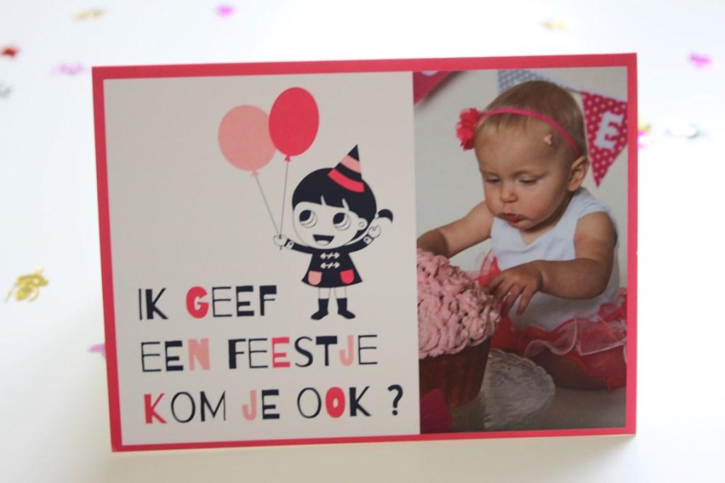 Beroemd Fotokaart maken voor de eerste verjaardag; tips; uitnodiging; cake #YP36
