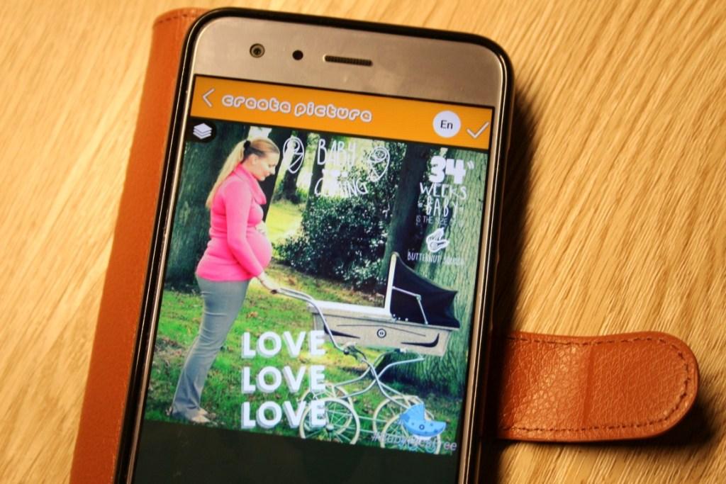 zwangerschapsfotos-bewerken-app-gratis