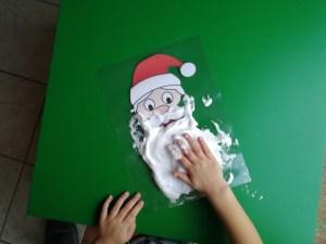 Sinterklaasbaard Kerstman baard met scheerschuim - Peuter kleuter activiteit in december