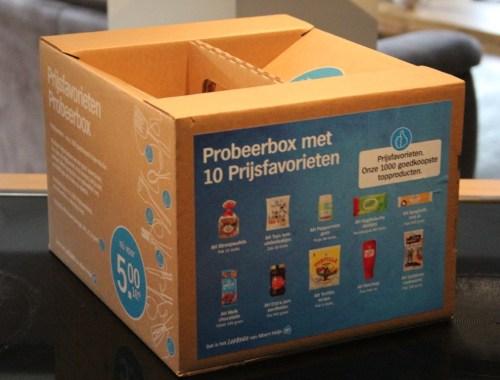 Prijsfavorieten probeerdoos probeerbox goodiebag Albert Heijn - Review + Unboxing