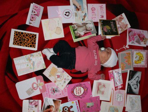 wat te doen met felicitatiekaarten geboorte baby