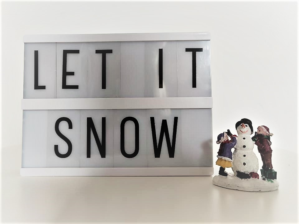 Winter Tekst Lightbox Lightboard Lichtbak Letterbord