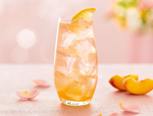 Suikervrije Mocktail Peach on the beach