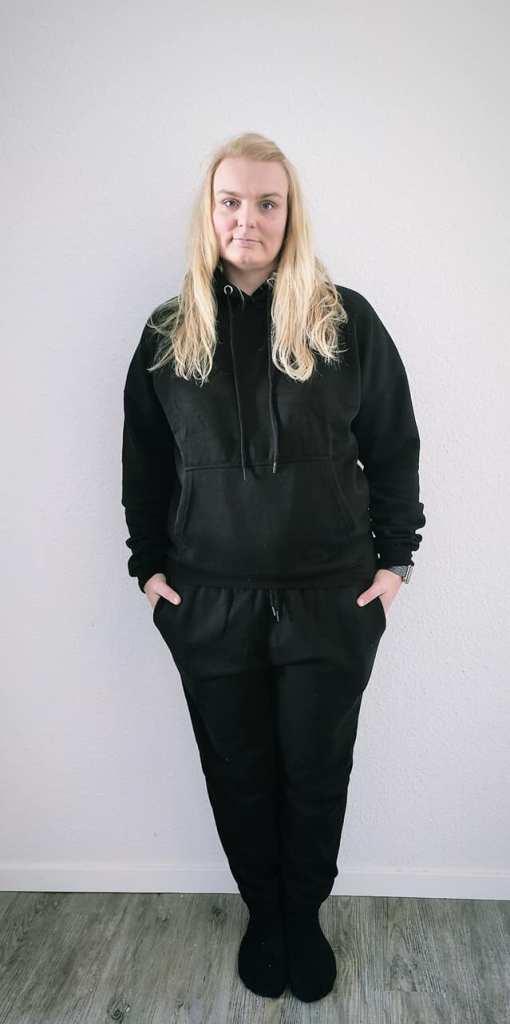 Femme Luxe huispakken Loungewear Hoodie zwart