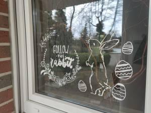 Pasen raamversiering raamdecoratie zelf maken diy