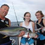 Sashimi on Half Cast Charters boil hot with Tuna