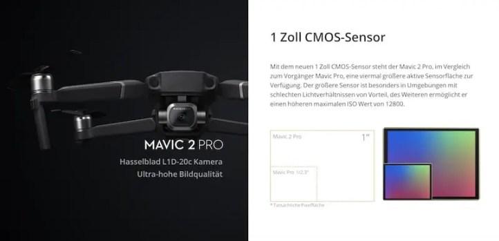 Drohnensensor Vergleich Mavic 2 Pro vs Mavic 2 Zoom