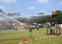 Stadtpokalwettbewerbe Sandhausen Feuerwehr Wasser marsch