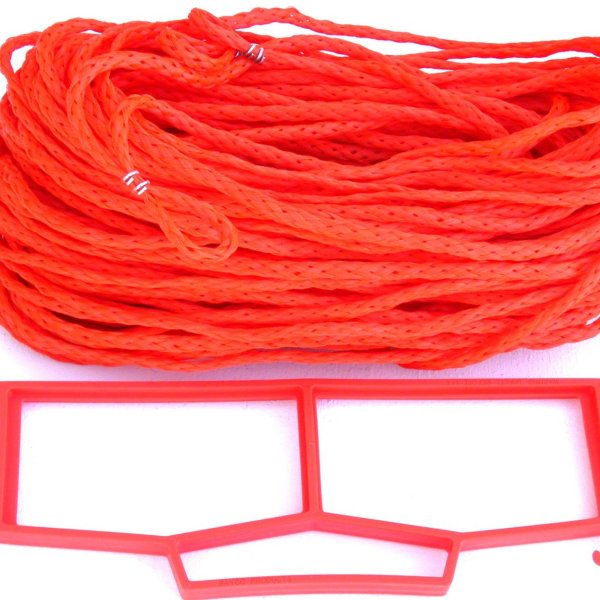 Rope Grass or Sand Court Boundary Lines Orange
