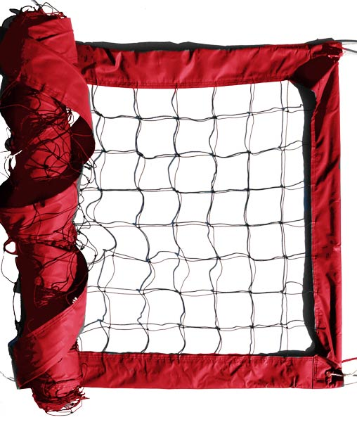 Red Advanced Outdoor Volleyball Net