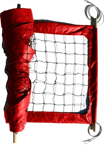 Red Professional Outdoor Volleyball Net