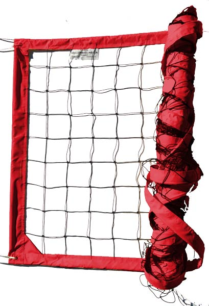 Red Power Outdoor Volleyball Net
