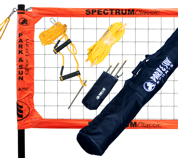 TS-CL-OR Park & Sun Spectrum Classic Portable Volleyball Set