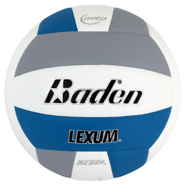 Baden Lexum Microfiber Volleyball Blue White Grey