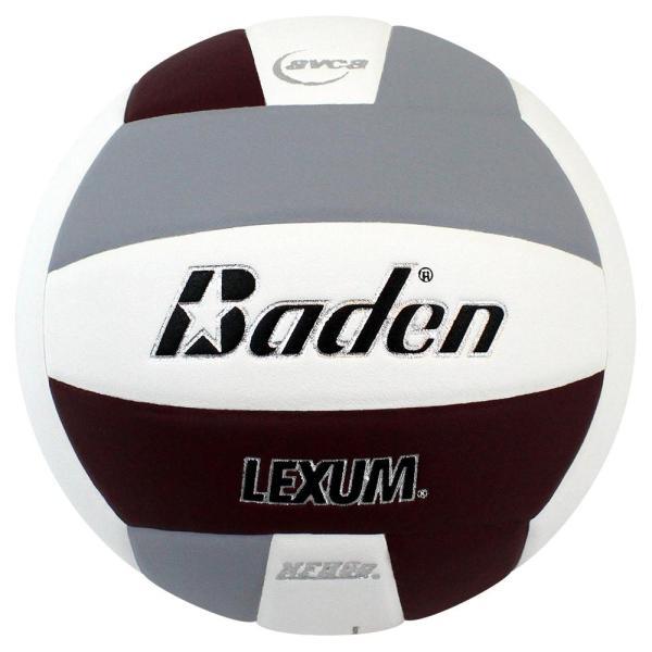 Baden Lexum Microfiber Volleyball Maroon White Grey
