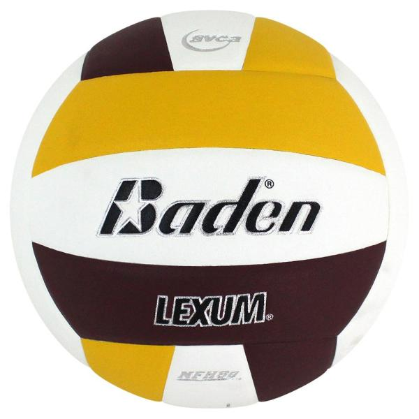 Baden Lexum Microfiber Volleyball Maroon White Yellow