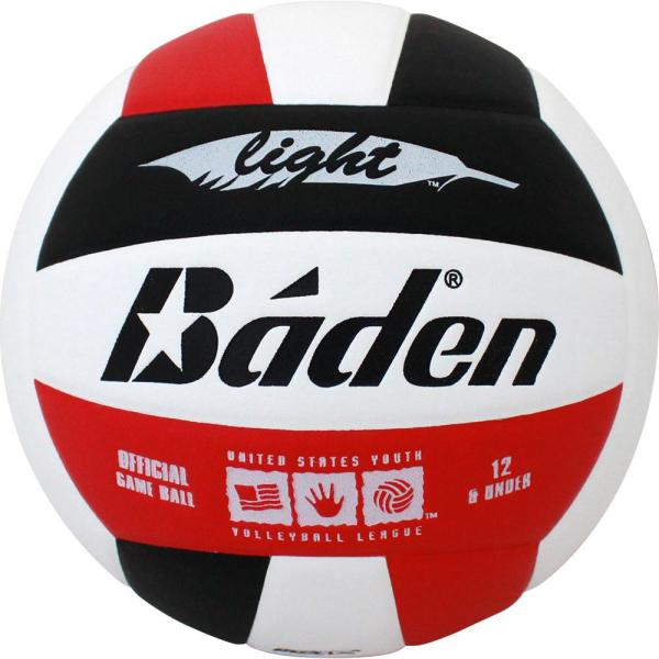 Baden U12 Light Microfiber Volleyball Red White Black
