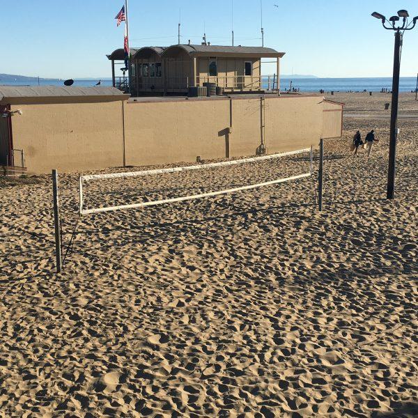 Steel Post Beach Volleyball Court