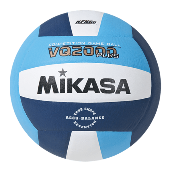 Mikasa Competition Micro-cell Game Ball Light Blue White Navy