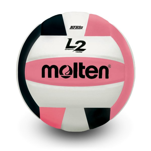 Molten L2 Microfiber Composite Club Ball Black White Pink
