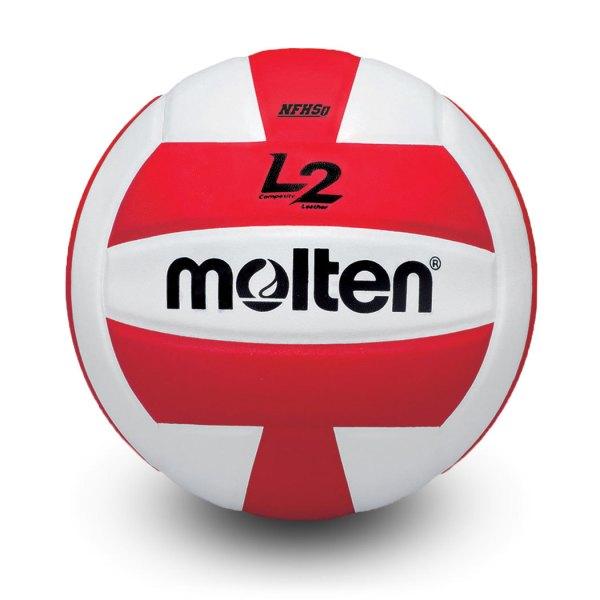 Molten L2 Microfiber Composite Club Ball Red White