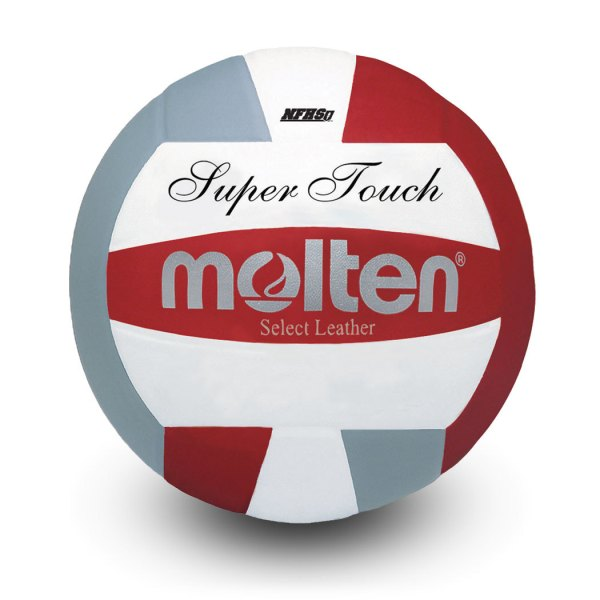Molten Super Touch Volleyball Red Silver