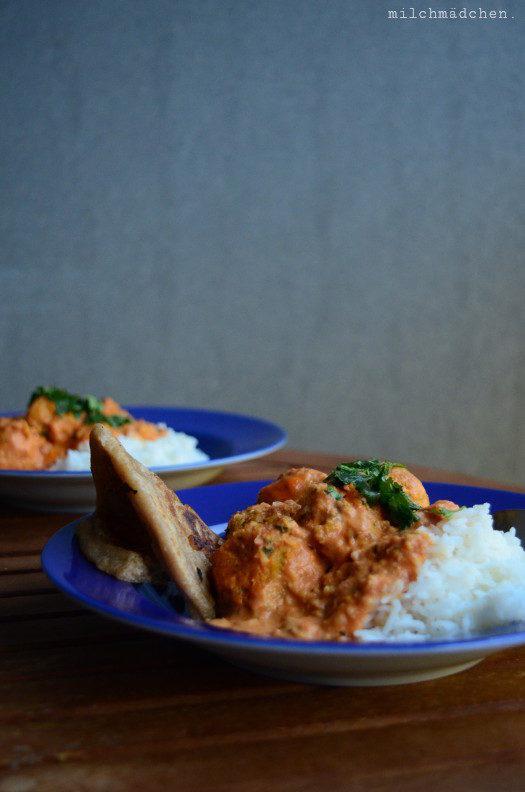 So und nicht anders: Falafel-Curry mit Naan
