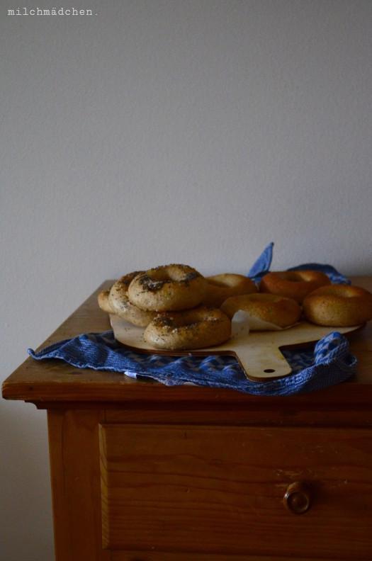 Bagels mit Mehlkochstück | milchmädchen.