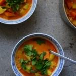 Kürbis-Kartoffel-Curry mit Linsen