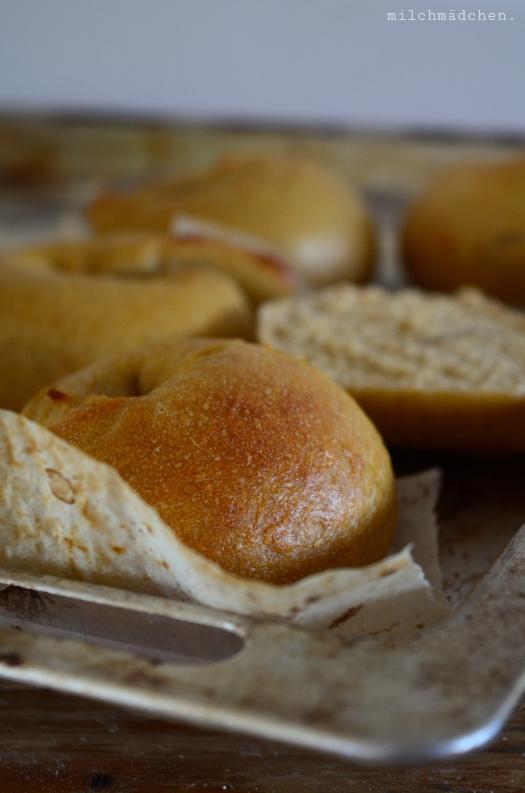 Sweet potato bagels | milchmädchen.