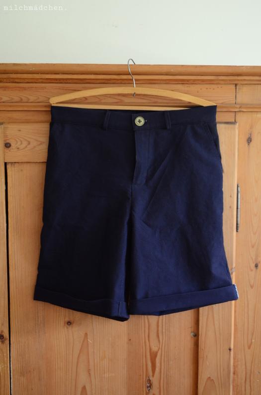 Marine-Shorts nach Burda 03/2020 # 119 | milchmädchen.