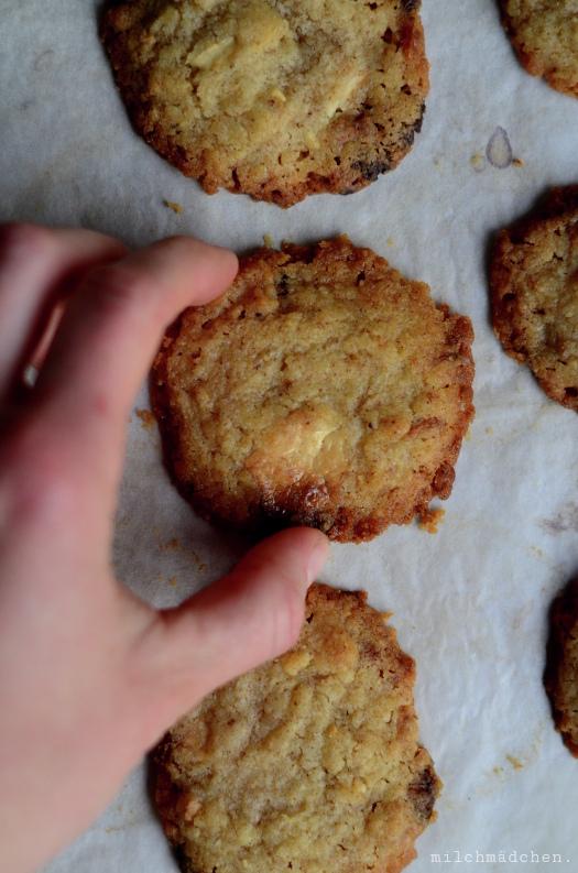Espresso-Cookies mit weißer Schokolade | milchmädchen.