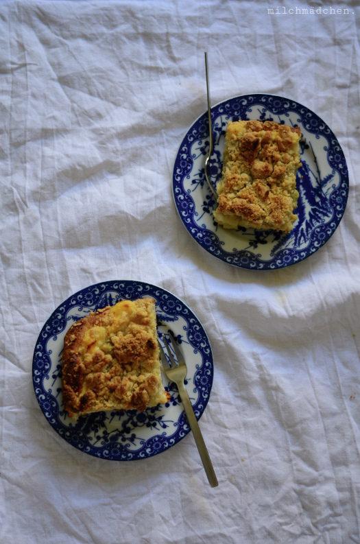 Same-Same, but different: Rhabarber-Pudding-Streuselkuchen mit Festem Starter