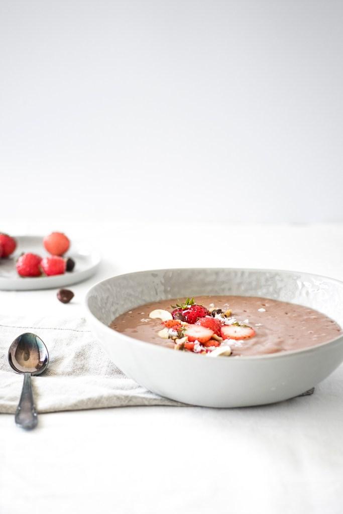 Erdbeer Pudding