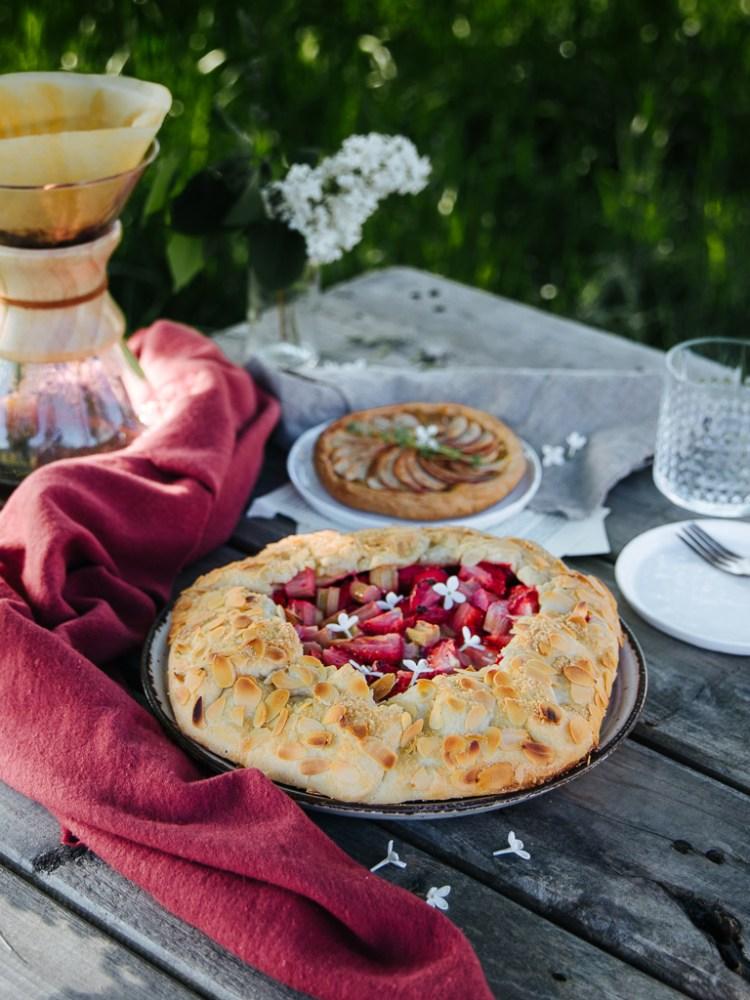 Apfel-Tartelettes Erdbeer Galette