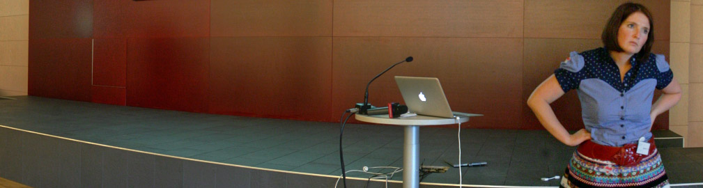 Michaele Mijzis in einer Diskussion mit Christoph Chorherr. Politcamp Graz, 30 Mai 2008
