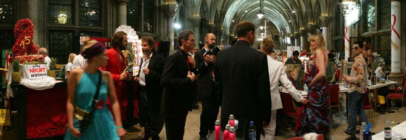Life Ball 2007, Backstage im L'Oreal Beauty Lounge, Wiener Rathaus