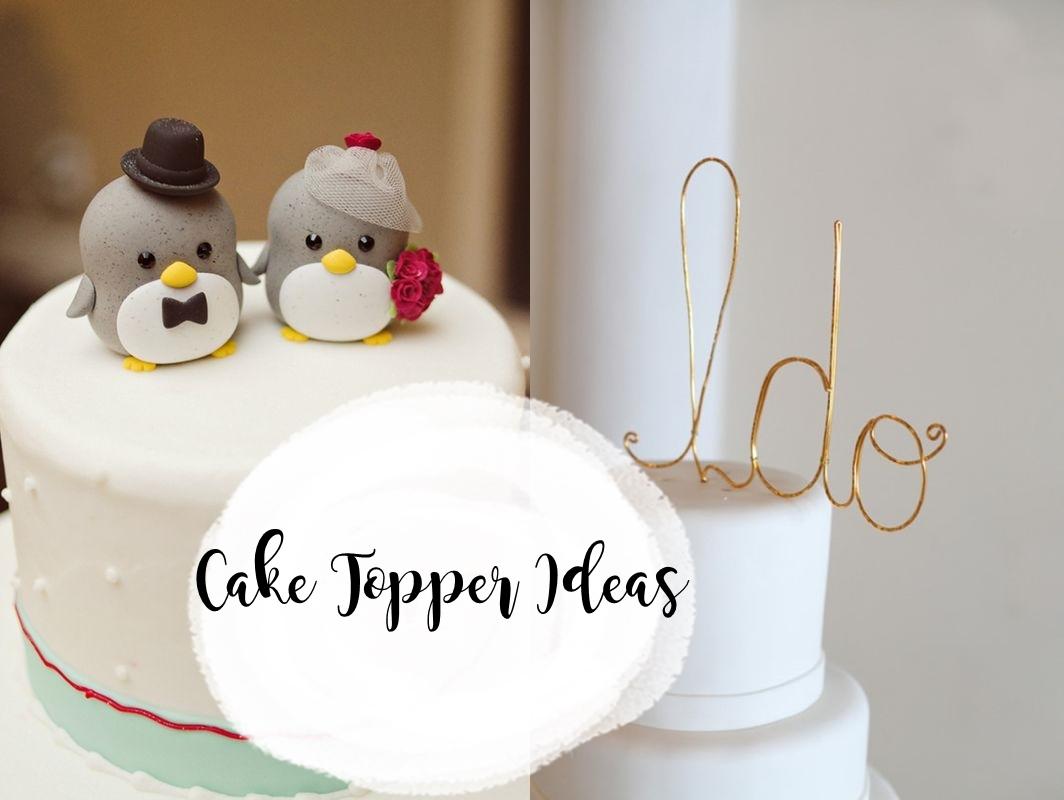 8 Cute Wedding Cake Topper Ideas