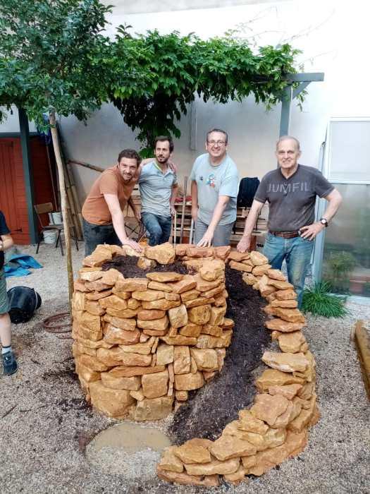 Fabien, Romaric, Alain et Xavier prennent la pose devant l'objectif de Nicolas !
