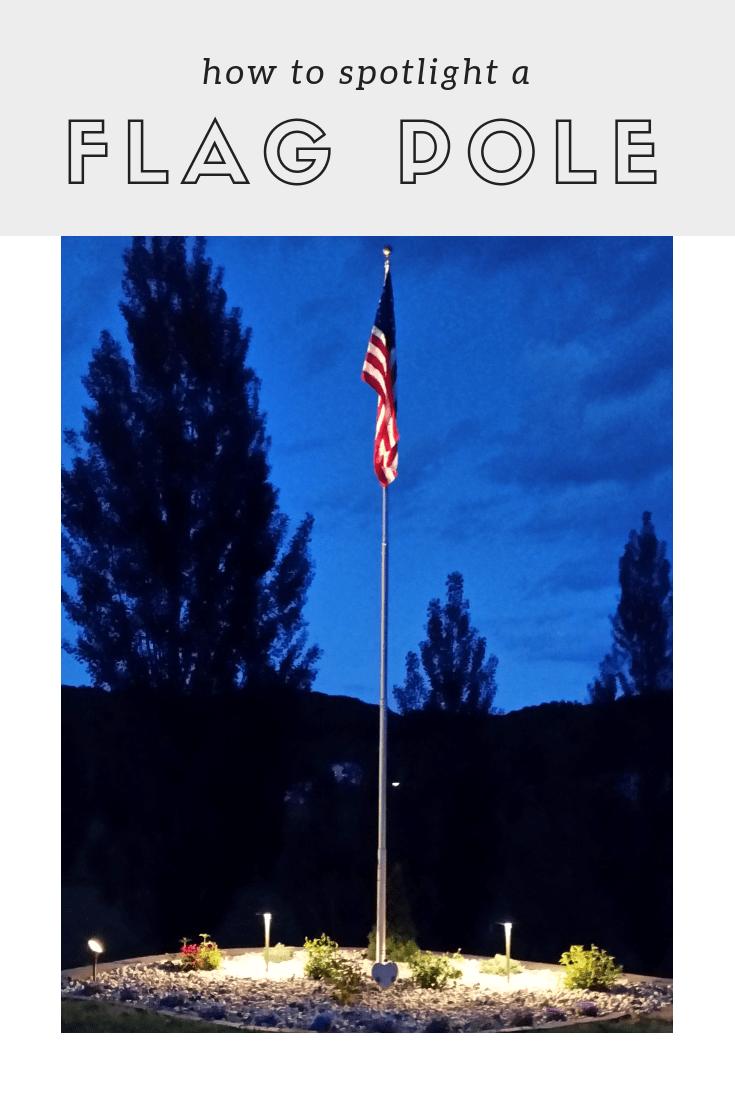 how to light up a flagpole