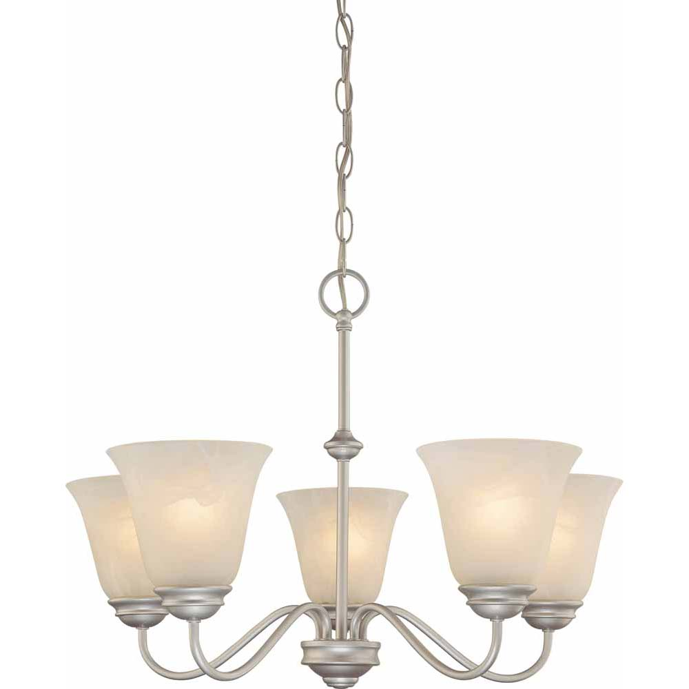 V2265 62 Hammond 5 Light Nickel Chandelier Volume Lighting