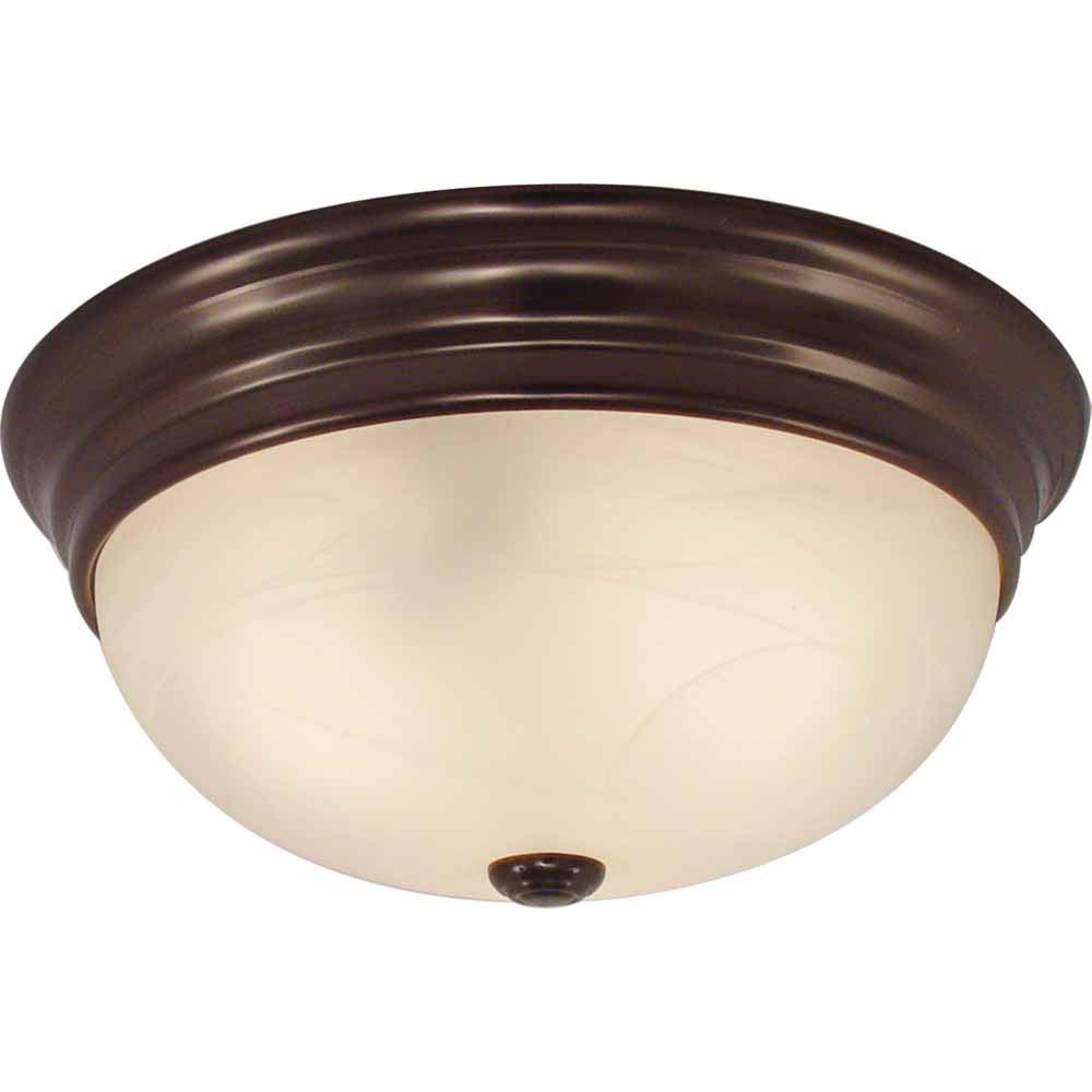 V7572 79 2 Light Antique Bronze Flush Mount Ceiling Fixture Volume Lighting