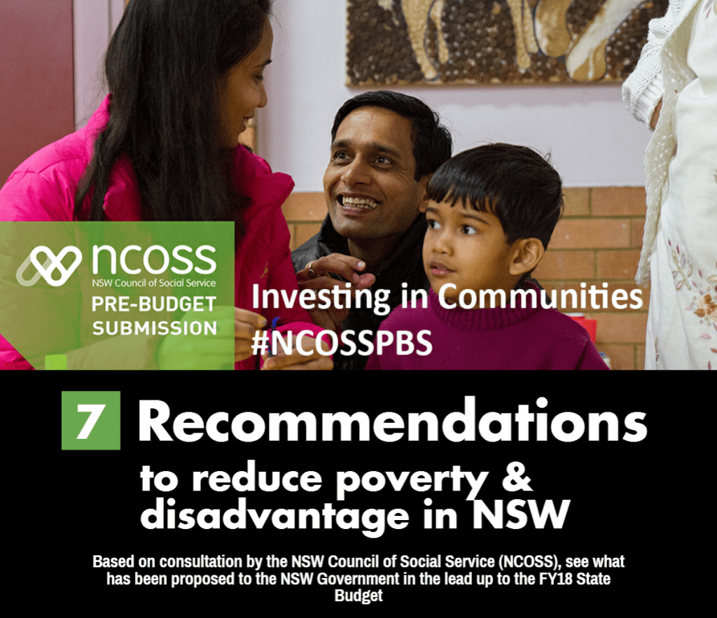 NCOSS Pre Budget Recommendation FY18