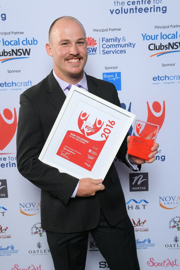 Ben Matthews, NSW Youth Volunteer of the Year