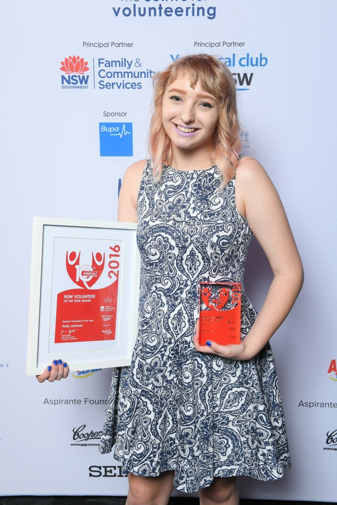 Holly Johnson, NSW-Student Volunteer of the Year
