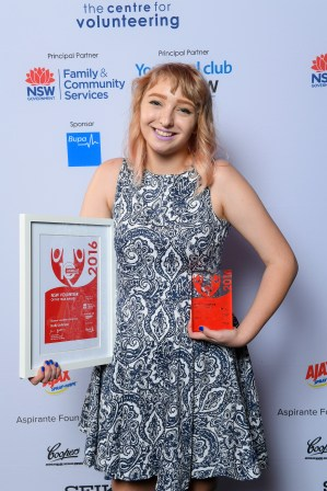 Holly Johnson, 2016 NSW Student Volunteer of the Year