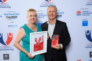 L-R Gemma Rygate & Dr David Digges, NSW Volunteer of the Year 2016