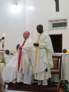 Bishop Ellison and provincial superio, Louis T Mende