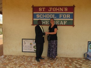 Principal Mendy and VICS director Joyce