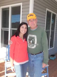 Photo of Clyde Messenger and his daughter.